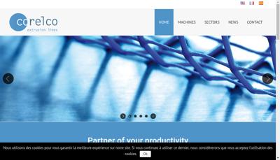 Capture d'écran du site de Corelco SAS