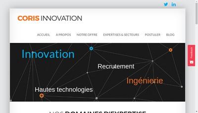 Site internet de Coris Innovation