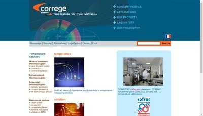 Site internet de Correge Sensors, Tempel