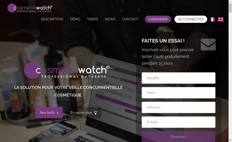 Capture d'écran du site de Cosmetikwatch
