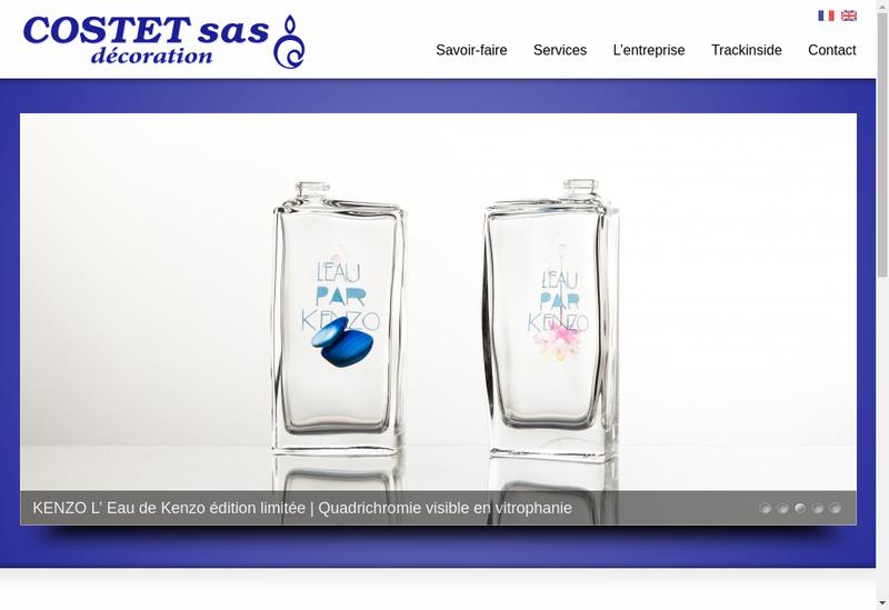 Capture d'écran du site de Costet Decoration