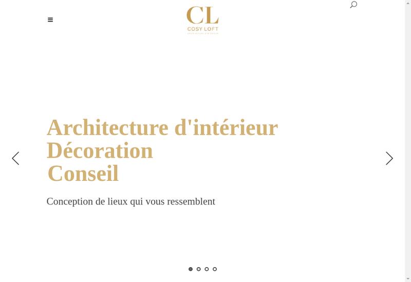 Capture d'écran du site de Cosy Loft