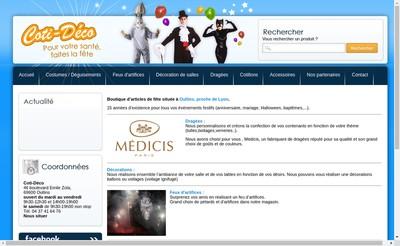 Site internet de Coti-Deco
