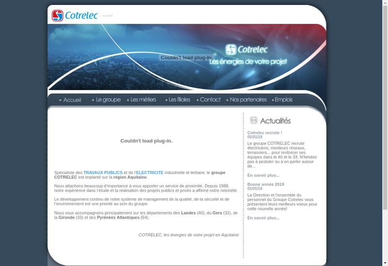 Capture d'écran du site de Cotrelec