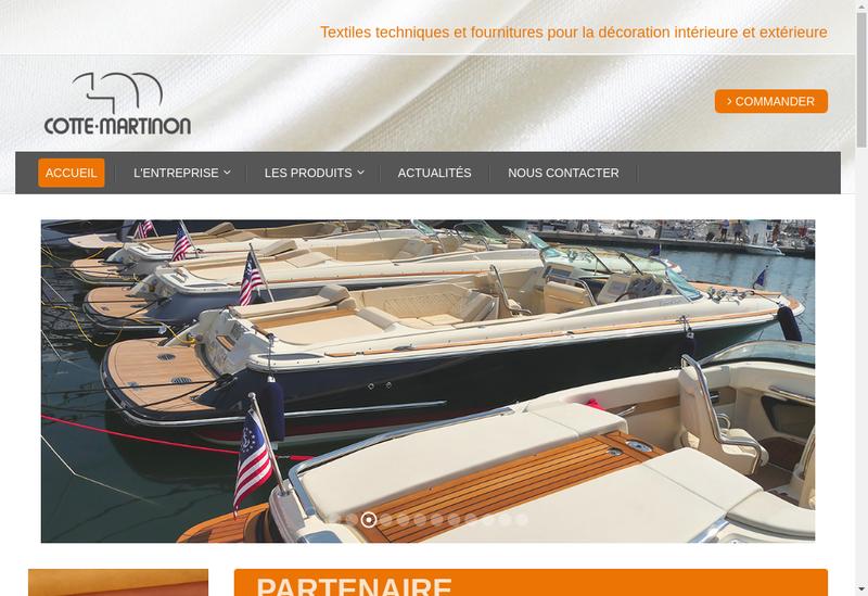 Capture d'écran du site de Cotte Martinon