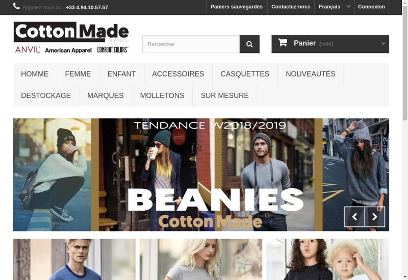 Capture d'écran du site de United Textile Company