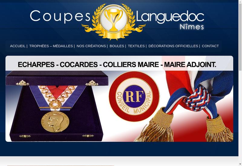 Capture d'écran du site de Coupes Languedoc