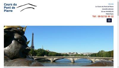 Site internet de Cours du Pont de Pierre