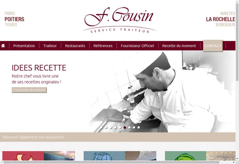 Capture d'écran du site de Cousin Traiteur la Rochelle