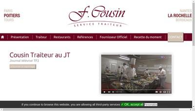 Site internet de Cousin Traiteur la Rochelle