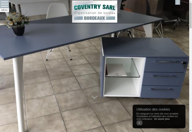 Capture d'écran du site de Coventry