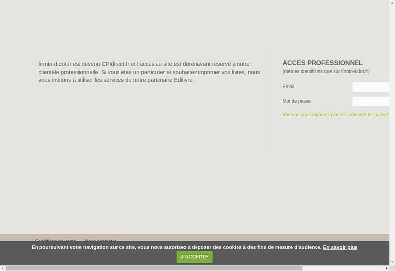 Capture d'écran du site de Societe Nouvelle Firmin Didot