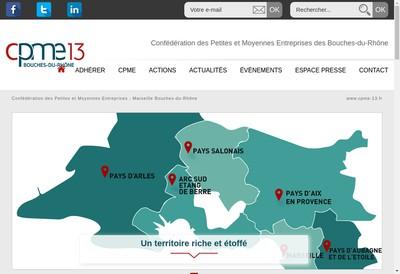Site internet de Confederation des Petites et Myennes Entreprises des Bdr