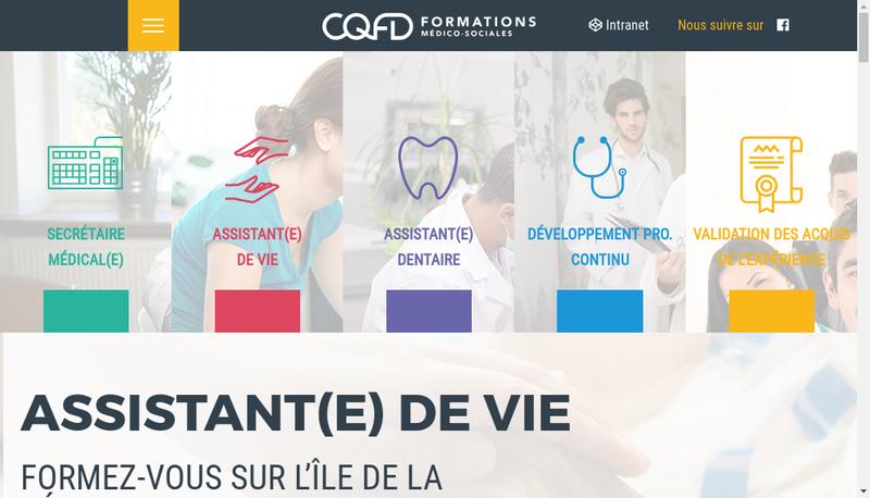 Capture d'écran du site de CQFD