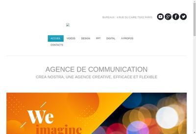 Site internet de Crea Nostra