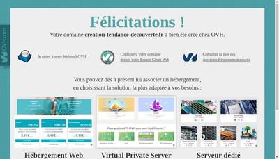 Site internet de CTD Creation Tendance Decouverte