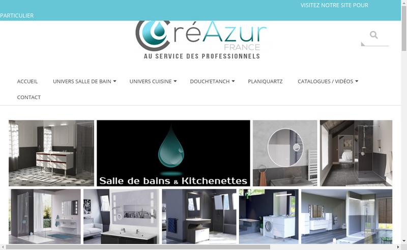 Capture d'écran du site de Creazur