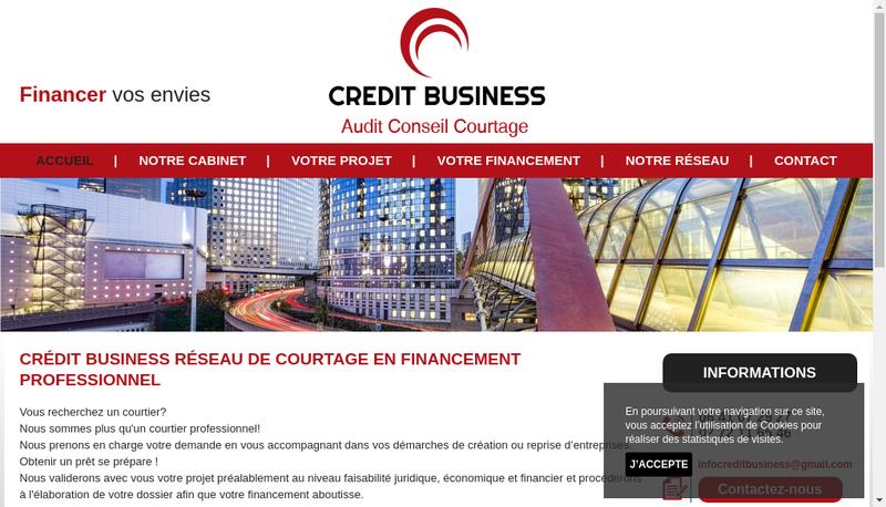 Capture d'écran du site de Credit Business