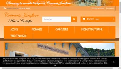 Capture d'écran du site de Juraflore