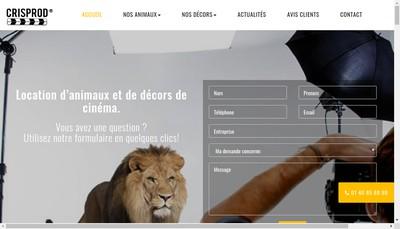 Site internet de Cris Production
