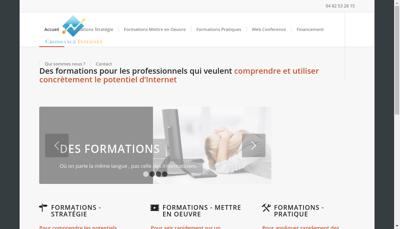 Capture d'écran du site de Croissance Internet - Sos Contact