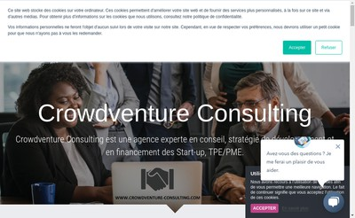 Site internet de Crowdventure Consulting