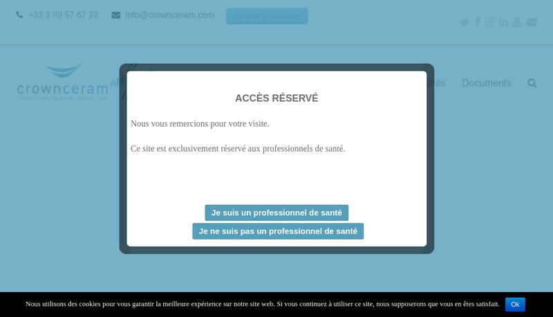 Capture d'écran du site de Crown Ceram