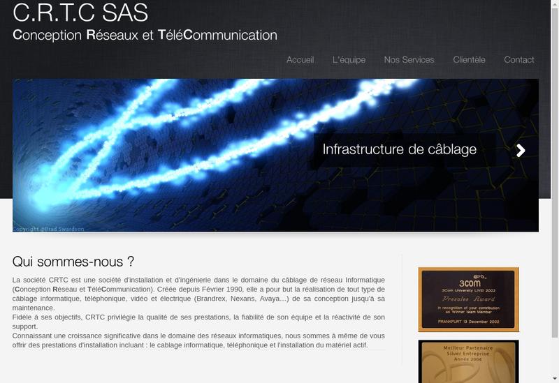 Capture d'écran du site de Conception Reseau Tele Communication