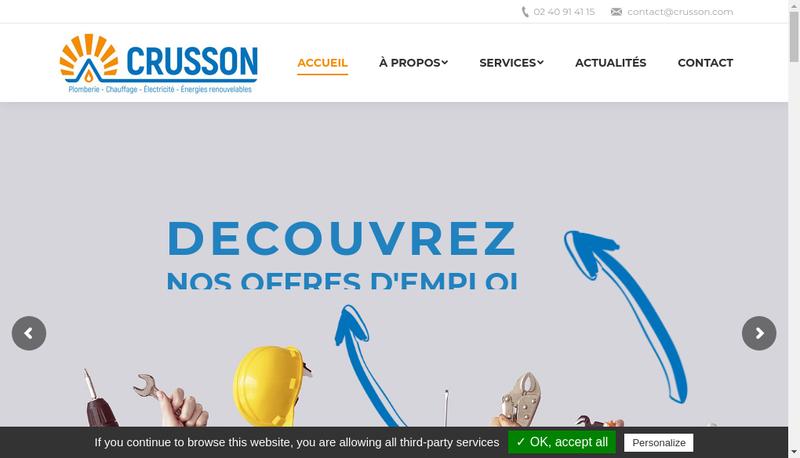 Capture d'écran du site de Crusson