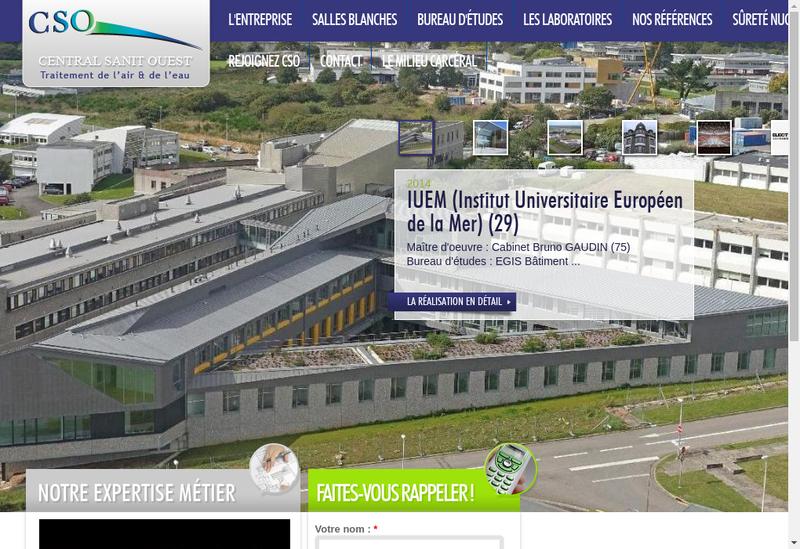 Capture d'écran du site de Central Sanit Ouest