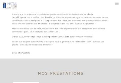 Capture d'écran du site de EURL Ingeba
