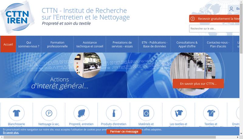 Capture d'écran du site de Cttn-Iren