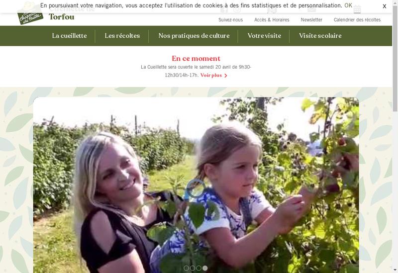 Capture d'écran du site de Cueillette de Torfou