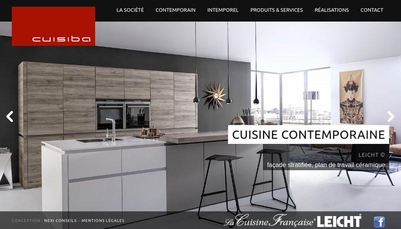 Capture d'écran du site de La Maison des Cuisines