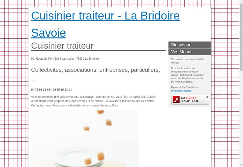Capture d'écran du site de Cuisine Authentique