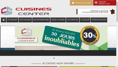 Site internet de Cuisines Center