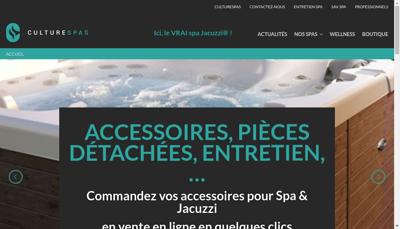 Capture d'écran du site de Culturespas