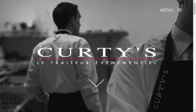 Capture d'écran du site de Curty S