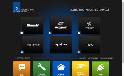 Site internet de Cycleurope Industries