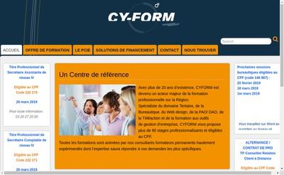 Site internet de Cy-Form