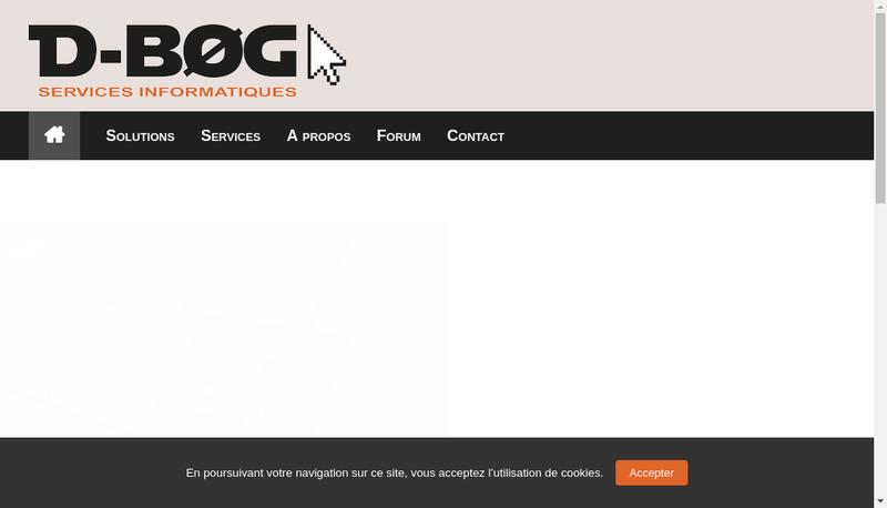 Capture d'écran du site de D'Bog