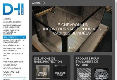 Site internet de D'Huart Industrie