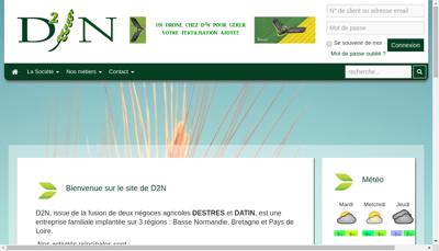 Capture d'écran du site de D2N