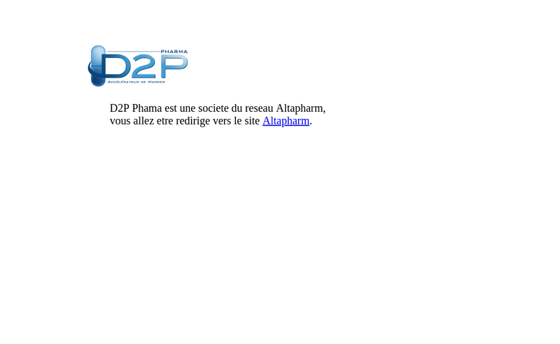 Capture d'écran du site de D2P Pharma