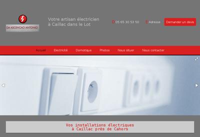 Capture d'écran du site de Da Ascencao Antonio