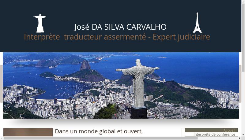 Capture d'écran du site de Jose Da Silva Carvalho