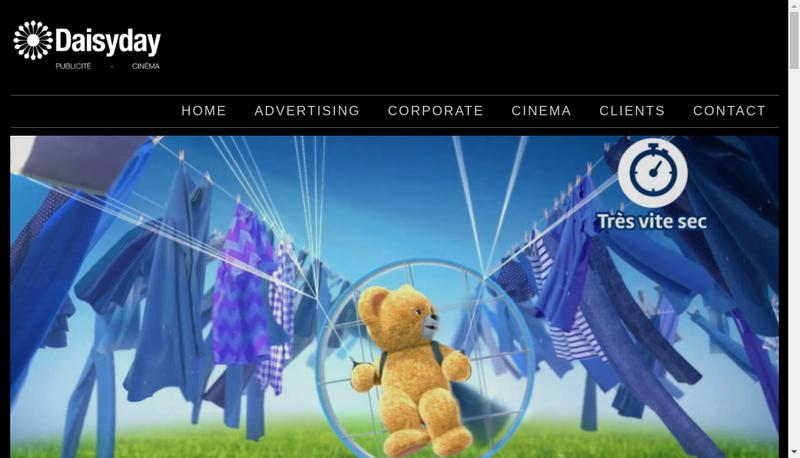Capture d'écran du site de Daisy Day Films