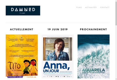Site internet de Damned Films-Production et Distribution