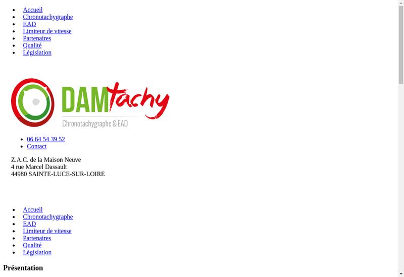 Capture d'écran du site de Damtachy
