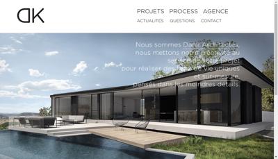 Capture d'écran du site de Dank Architectes